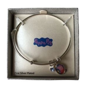 Peppa Pig Silver Plate Bangle Bracelet New
